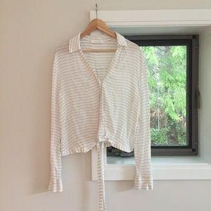 White Wrap Around Blouse by Olivia + James